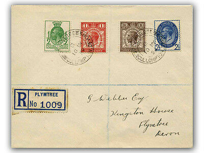 1929 Postal Union Congress FDC Low Values Devon CDS