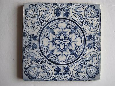"""Antique Victorian Wedgwood """"rose & Ring"""" Aesthetic Print Wall Tile  C1885"""