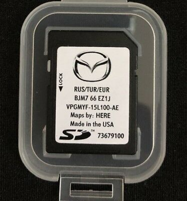 MAZDA 2 3 6 CX-3 CX3 MX5 SKYACTIVE Connect SD Card NAVIGATION MAP 2017 - 2018