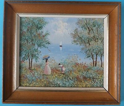 Genuine / Original Vintage Oil Painting of a Japanese Scene By Ray Gibson Framed