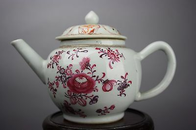 18th C. Chinese Export Porcelain Famille-rose Teapot