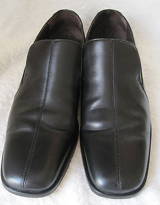 loake mens black slip on shoes quot leeds quot 9 5 to