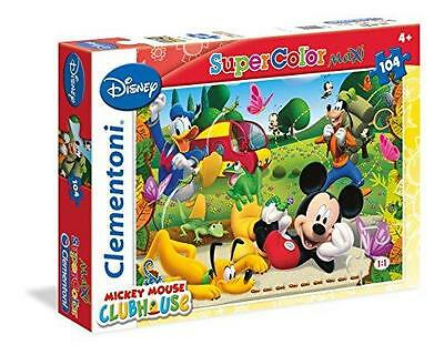 New Clementoni Super Color Maxi Mickey Mouse Clubhouse 104 Piece Jigsaw Puzzle