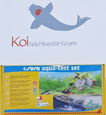 Sera aqua-test set  pH, GH, KH, NO2 -  Wassertester Koi Teichtester Teichwasser