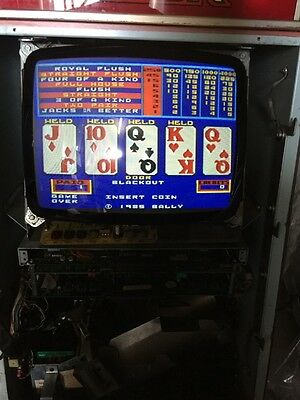 Bally Video Poker - V2000 - Jacks Or Better - Coins Only  - Play To 1 To 5 Coins
