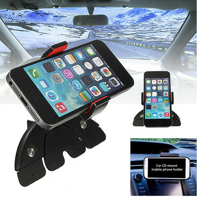 Universal 360° In Car Auto CD Slot Mount Holder Cradle For Iphone/Samsung/GPS