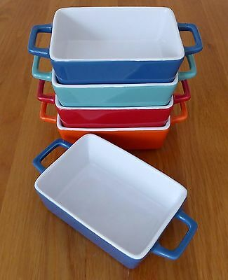 Small STONEWARE BAKING DISH  perfect for single servings ,  Single or Set of 4
