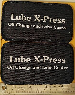 "Lube X-Press Embroidered Logo Iron-Sew on Patch Lot of 2  4.5""x 2.5"""
