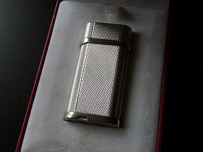 Stunning Cartier Decor Lighter - Rare Silver Plated Barley Design - Boxed
