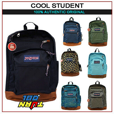 Jansport 100% Authentic Cool Student  Big Backpack Original School Book Bag