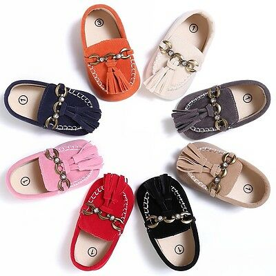 Lovely Kids Baby Boys Girls Tassel Soft Soled Moccasin Shoes Prewalkers Sneakers