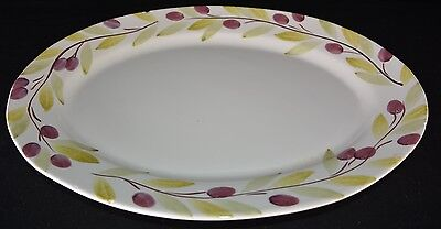 Netas Large Hand Painted Oval Platter! Made In Italy!