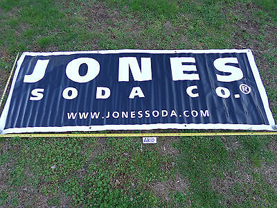 "Vinyl Banner Man Cave Jones Soda Company 93"" X 36"" Blue & White Rare"
