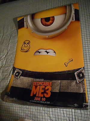 """Steve Carell DESPICABLE ME 3 movie poster one sheet DS 27""""x40"""" Minions 2017 v4"""