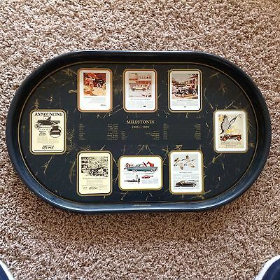75TH ANNIVERSARY ~ FORD MILESTONE  ~ Oval Metal Enamel TRAY ~