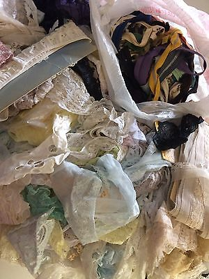 Vintage Lace & Zipper Lot Great Variety