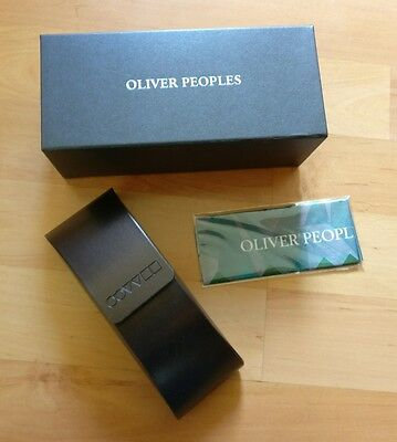 Oliver Peoples Glasses Case - New In Box - With Cleaning Cloth