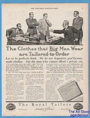 1909 The Royal Tailors Clothes the BIG men wear 1900's suit fashion style ad