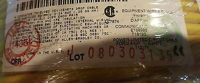 Belden 3085A Allen Bradley 1485C DeviceNet 22/1P+24/1P Thin Trunk Cable Ye/100ft