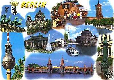 Collectible Berlin Photo Historical Sites Postcard