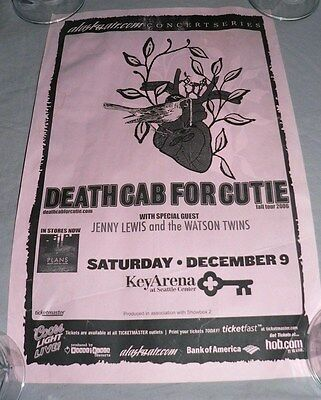 DEATH CAB FOR CUTIE POSTER 2006 SEATTLE with Jenny Lewis and the Watson Twins