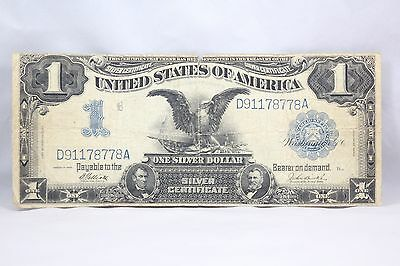 1899 Silver Certificate $1 Dollar US Large Note Circulated Black Eagle Note