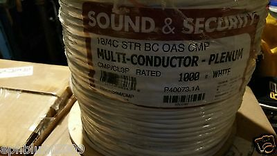 Southwire/Tappan P40073 575715 18/4C Stranded Sound/Security Cable CMP Wht/100ft