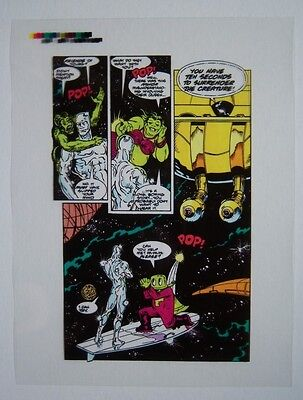 Original Production Art SILVER SURFER #33, page 8, RON LIM art
