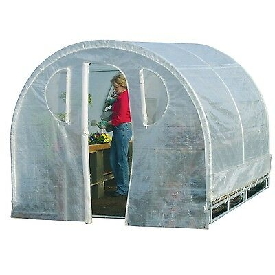 Polytunnel Hoop House Style Greenhouse (8' x 8')