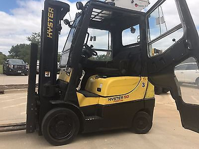 2007 Hyster 5000 Pound LPG Forklift-WE WILL SHIP-Air conditioned-PROPANE-Lifts