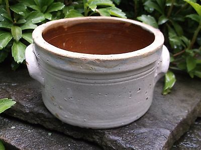 Old Small Stoneware Crock with Elephant Ear Handles