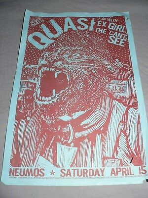 QUASI POSTER 2006 SEATTLE w/ EX-GIRL, THE CAN'T SEE (764 HERO) INDIE ROCK NUEMOS