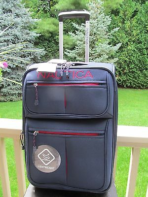 Nautica Maritime Rolling Carry On , Blue&Red, With Matching Travel Tote, NEW
