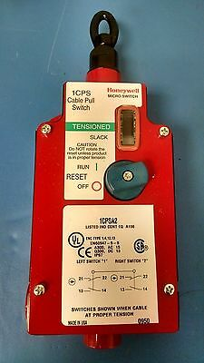New Honeywell 1CPSA2 (2NO/2NC) CABLE PULL SAFETY SWITCH MICRO SWITCH