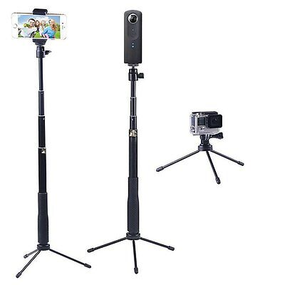 YiSeyruo Selfie Stick Extendable Monopod with Tripod Stand for GoPro Hero Gear