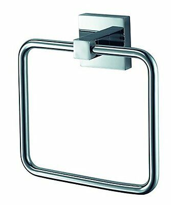Mezzo 1110856 Stainless Steel and Zinc Alloy Haceka Towel Ring Silver