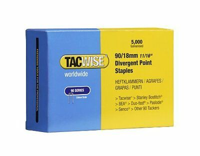 Tacwise 90/18mm Divergent Point Narrow Crown Staples (Box of 5000)
