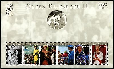 Neuseeland New Zealand 2001 Königin Elisabeth Limited Edition Block 127 M€ 140