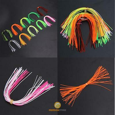 10 Bundles 30 Strands Silicone Skirts Fishing Skirt Rubber Jig Lure Mixed Case