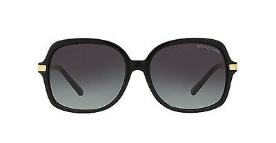 NWT Michael Kors Sunglasses MK 2024 316011 Black Gold / Gray Gradient 57 mm NIB