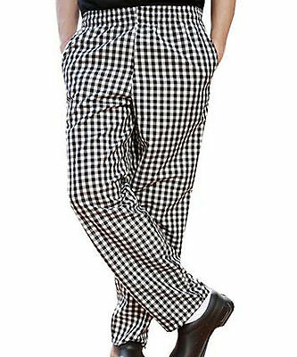 Chef Cook Pants - Size 32x28, 30x32, 30x34 - Checkered