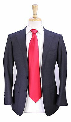 * RING JACKET * Japan Solid Charcoal Gray Wool Fleece 2-Btn Slim Fit Suit XS/34S