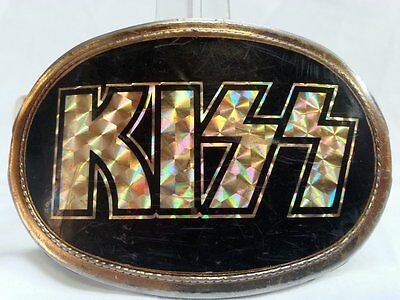 Vintage KISS Rock Music Band Belt Buckle 1977 Pacifica MFG Accessories