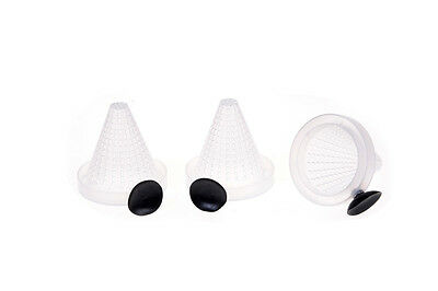 3pcs Aquarium Fish Food Bloodworm Basket Cone Feeder Feeding container GTAU