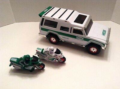 2004 Hess Truck Sport Utility Vehicle & Motorcycles 40th Anniversary Preowned