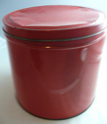 Vintage Tin Metal Large Red Canister