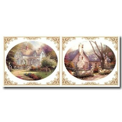 Victorian Cottages Large Instant Stencils by Thomas Kinkade