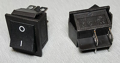 KCD4-201-4P DPST Rocker Switch 16A 250V Pack of 2