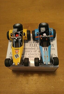 Carrera GO DUNE BUGGY 1/43 Scale Slot Cars Blue 73 & Yellow  99  Lot of 2