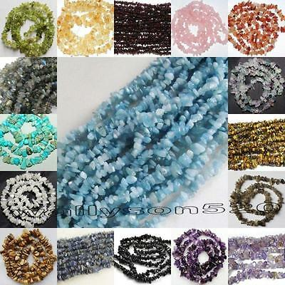 Natural 5-8mm Freeform Chips Jewelry DIY Making loose gemstone beads strand 16""